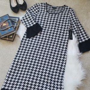 NWT Houndstooth Sweater Dress